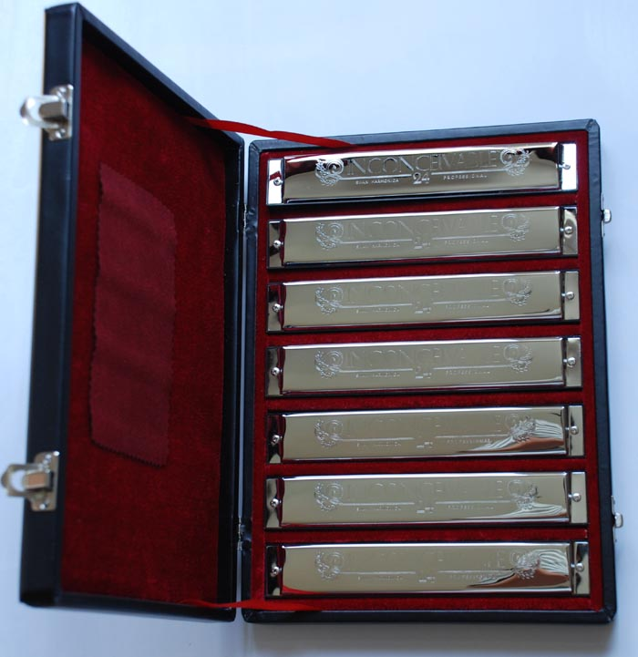 Swan 24 hole Inconceivable Professional Harmonica: 7 in a Set
